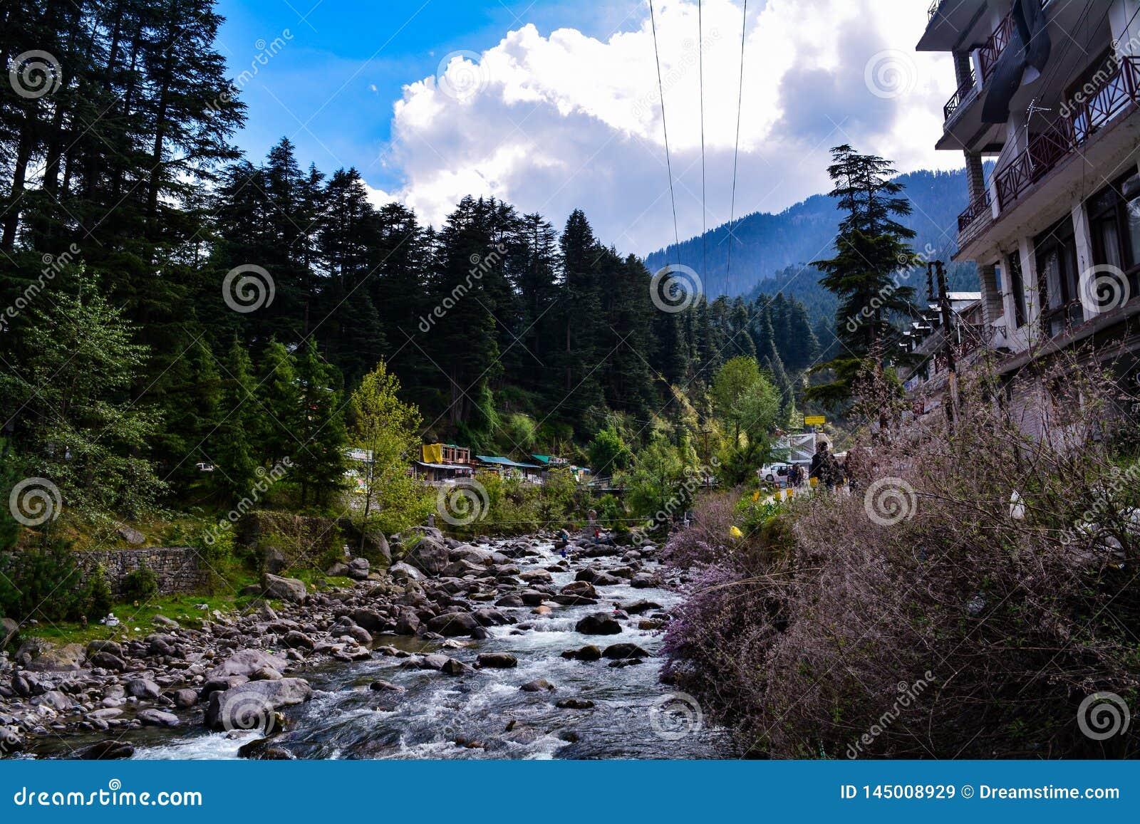 Schichten von Himalaja-River Valley