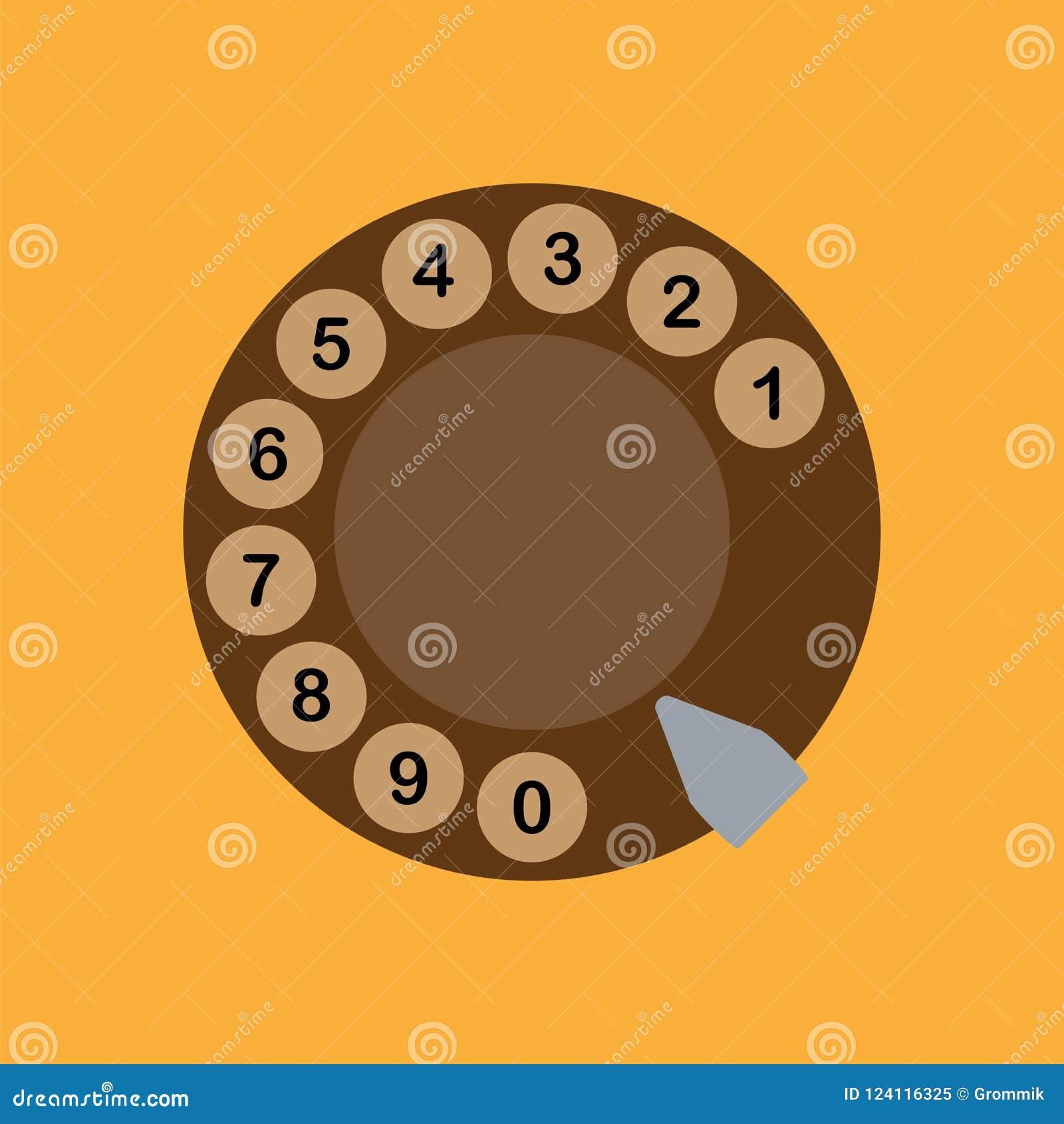 Schijf dialer pictogrammen met impuls retro telefoon