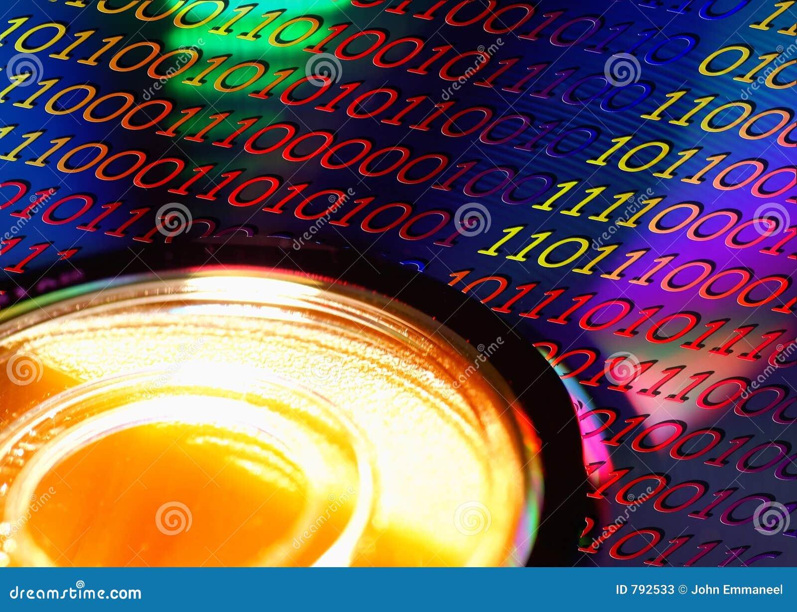 Schijf DVD met code Binaire