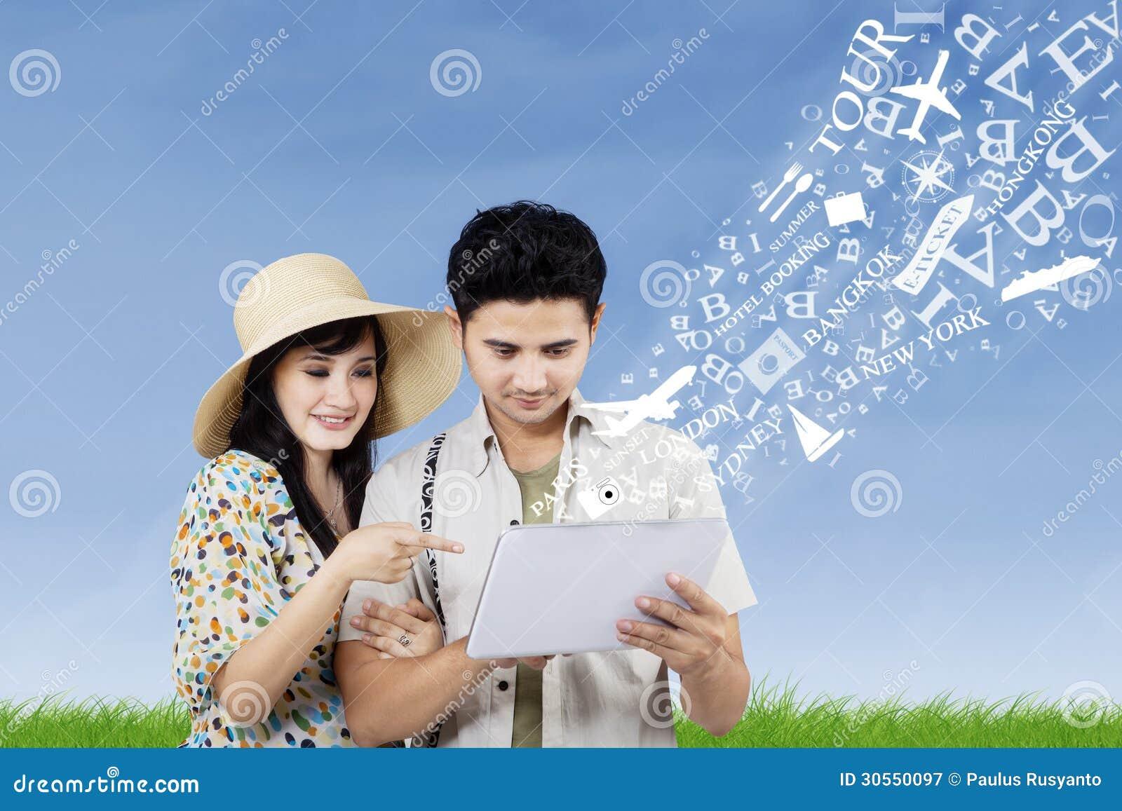 Schik wittebroodswekenreis van elektronische tablet