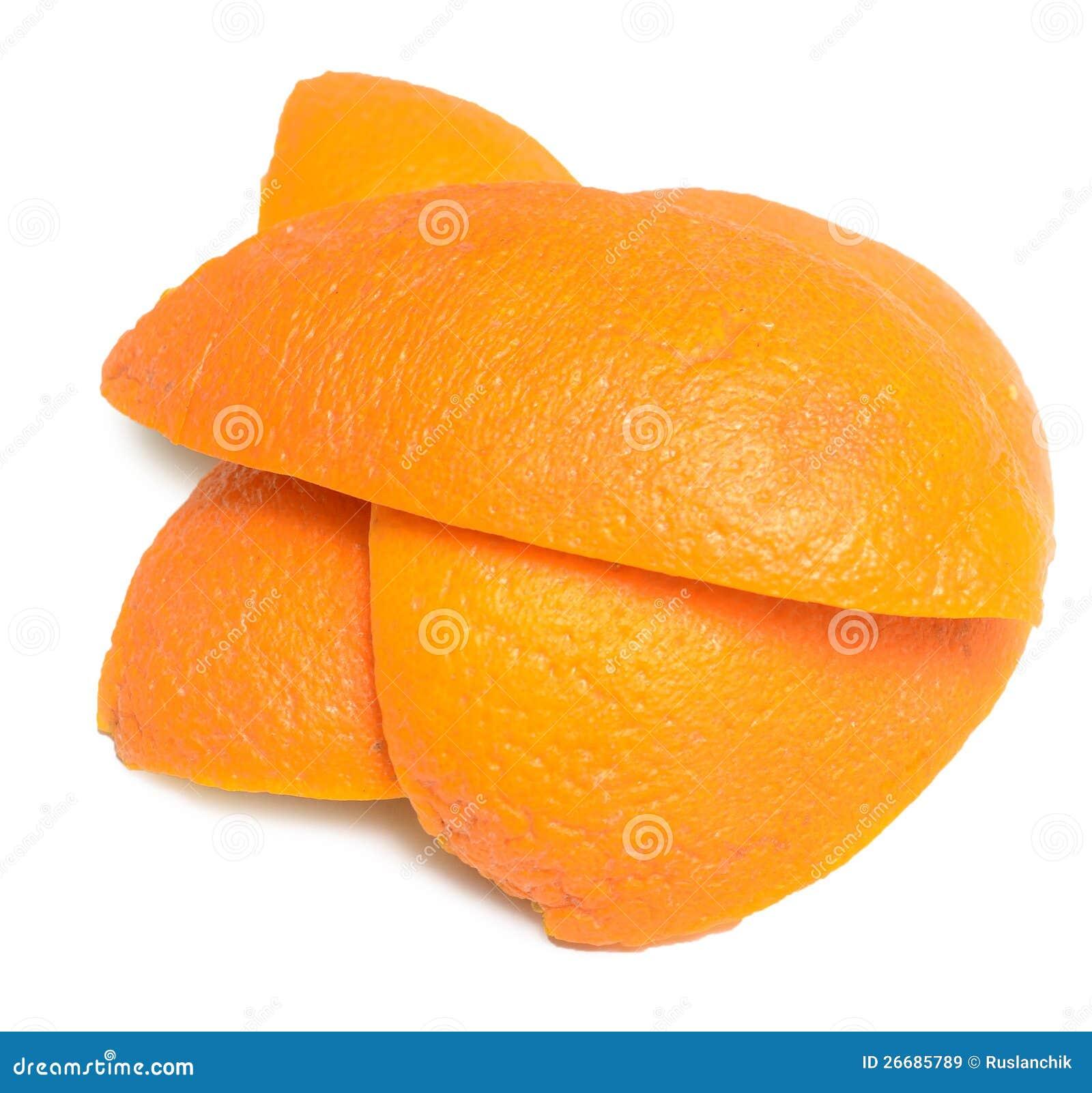Schil van een sinaasappel