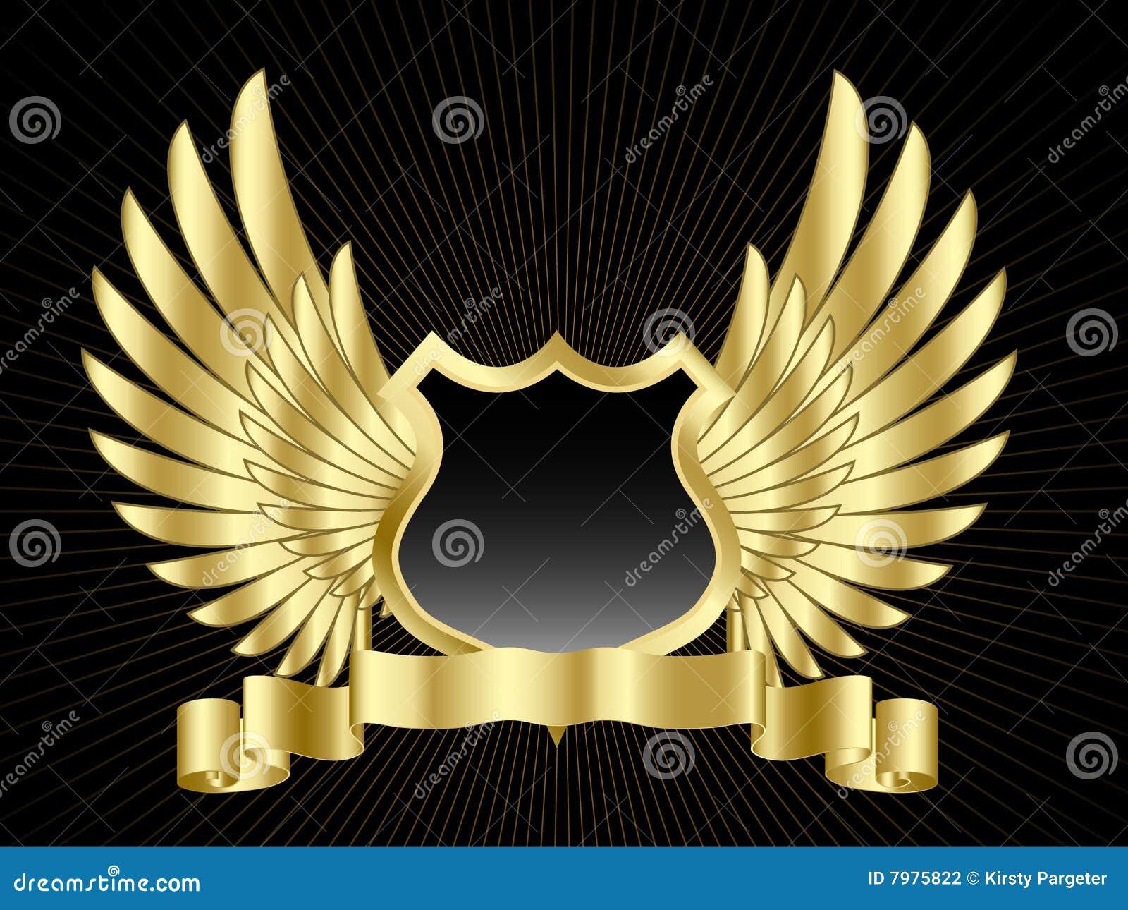 Schild met vleugels