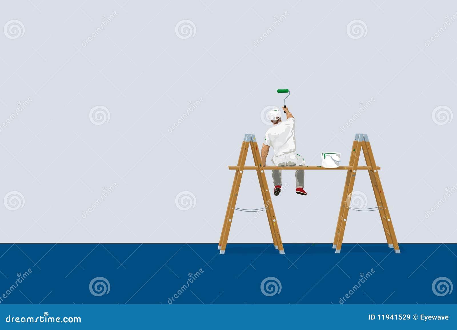 Schilder op ladders