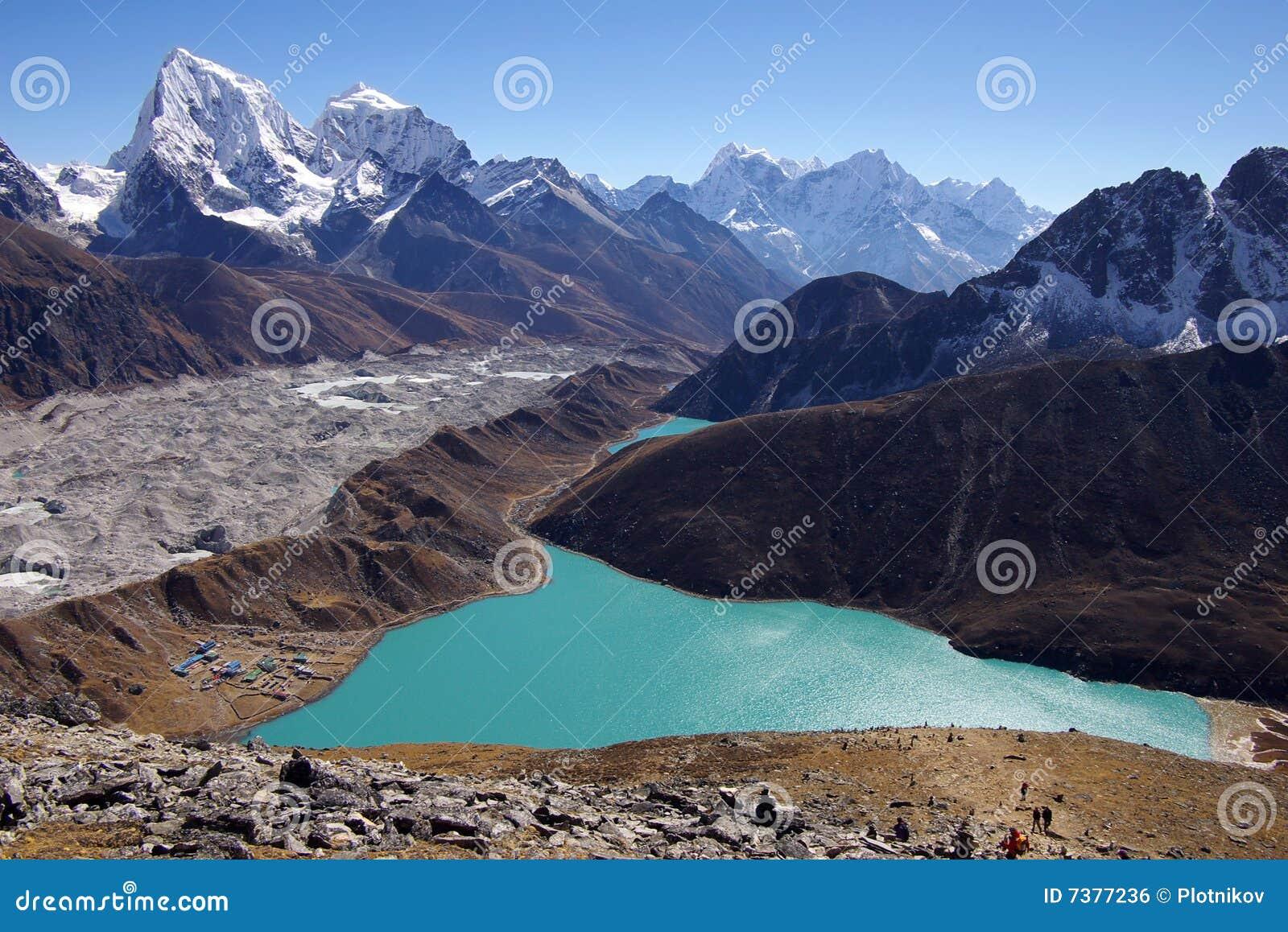 Schilderachtig Nepalees landschap met een meer