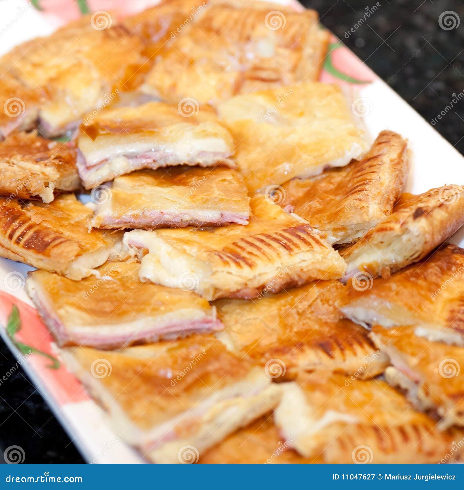 Schinken Und Käse Im Blätterteig Stockbild Bild Von Käse Flockig