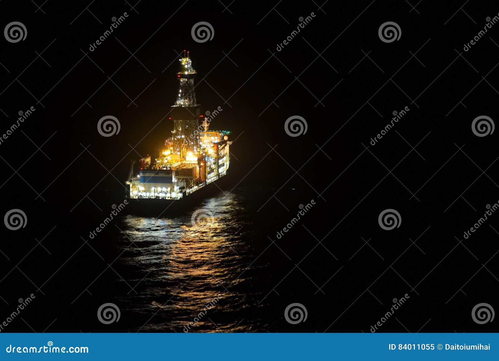 Schip op het overzees
