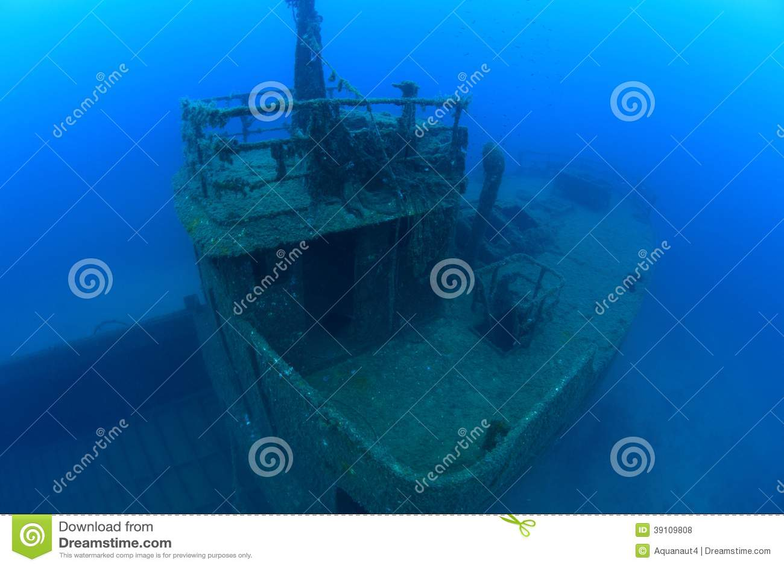 Schipbreuk in de Middellandse Zee
