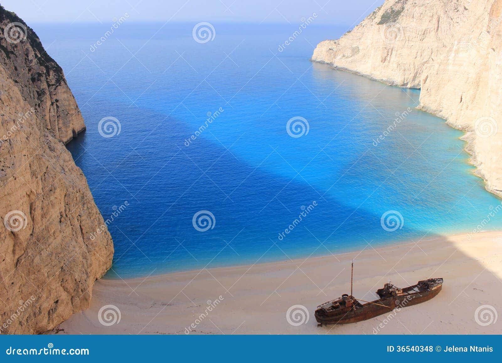 SCHIPBREUK in Zante, Griekenland