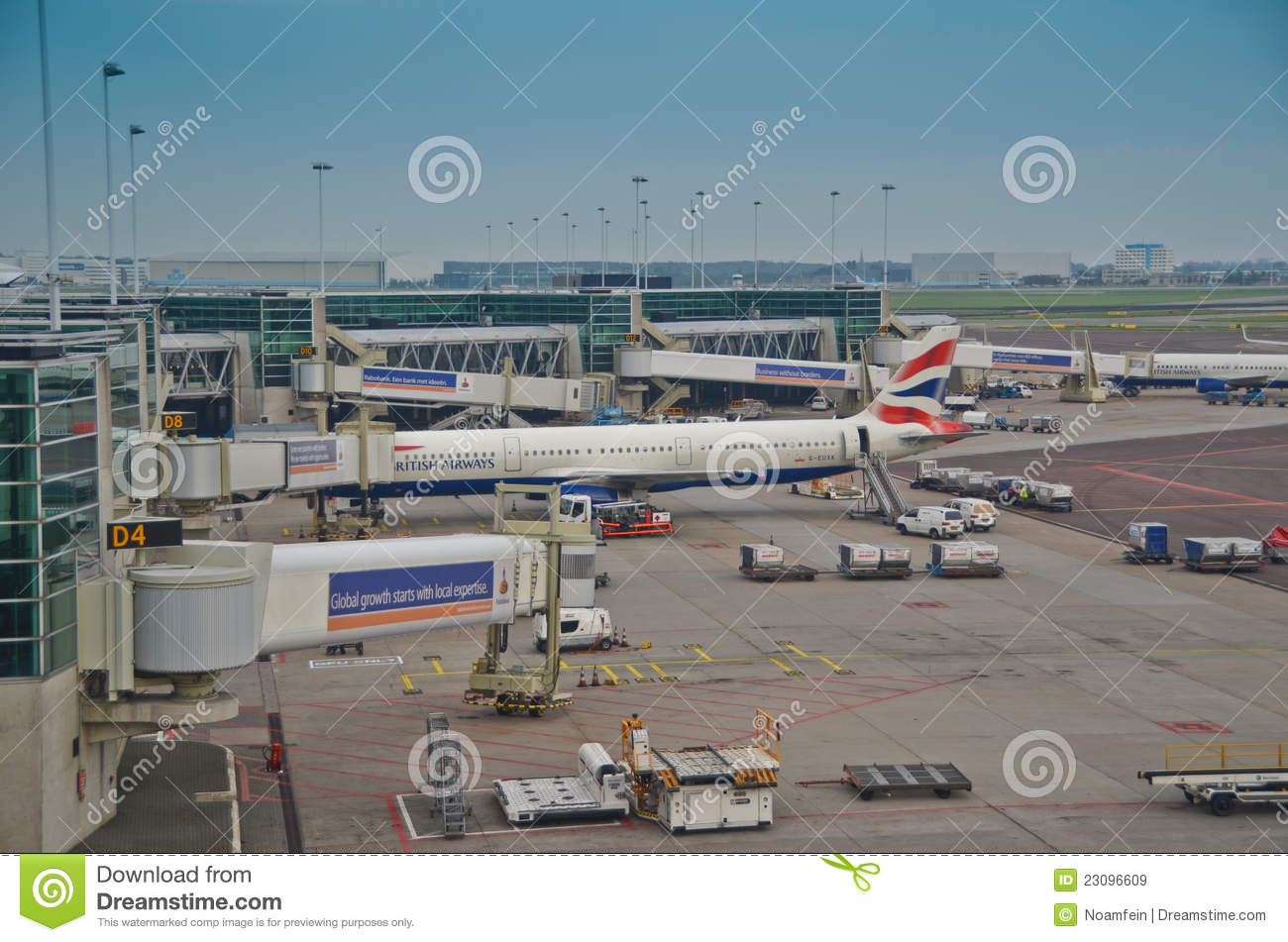 United Airlines Free Baggage Schiphol Airport Exterior Editorial Stock Image Image