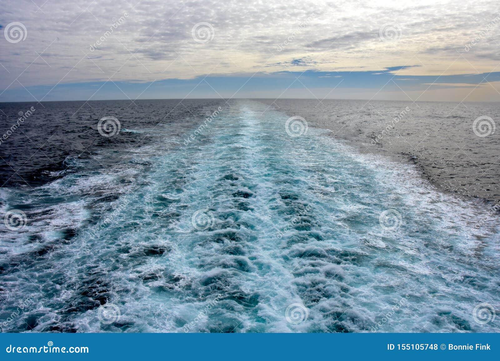 Schipkielzog op een cruiseschip