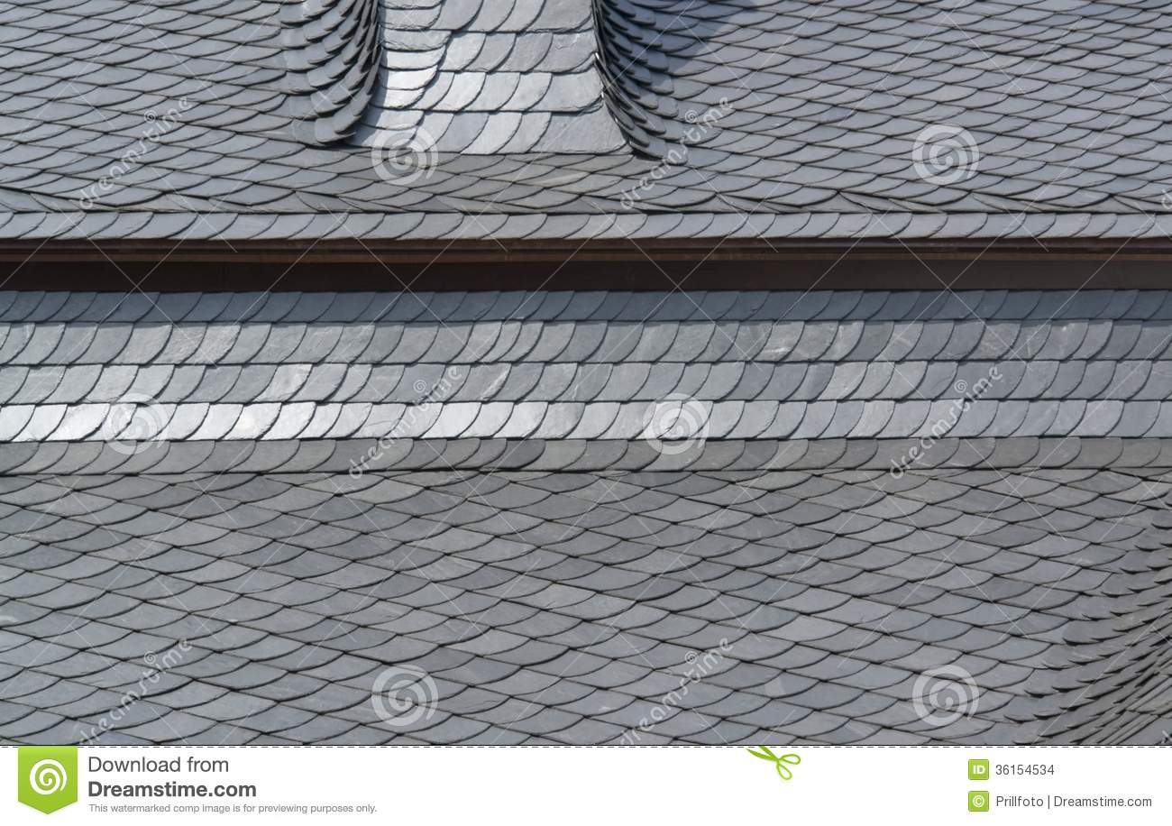 Schist Tiled Roof Detail Stock Photo Image Of Gray House