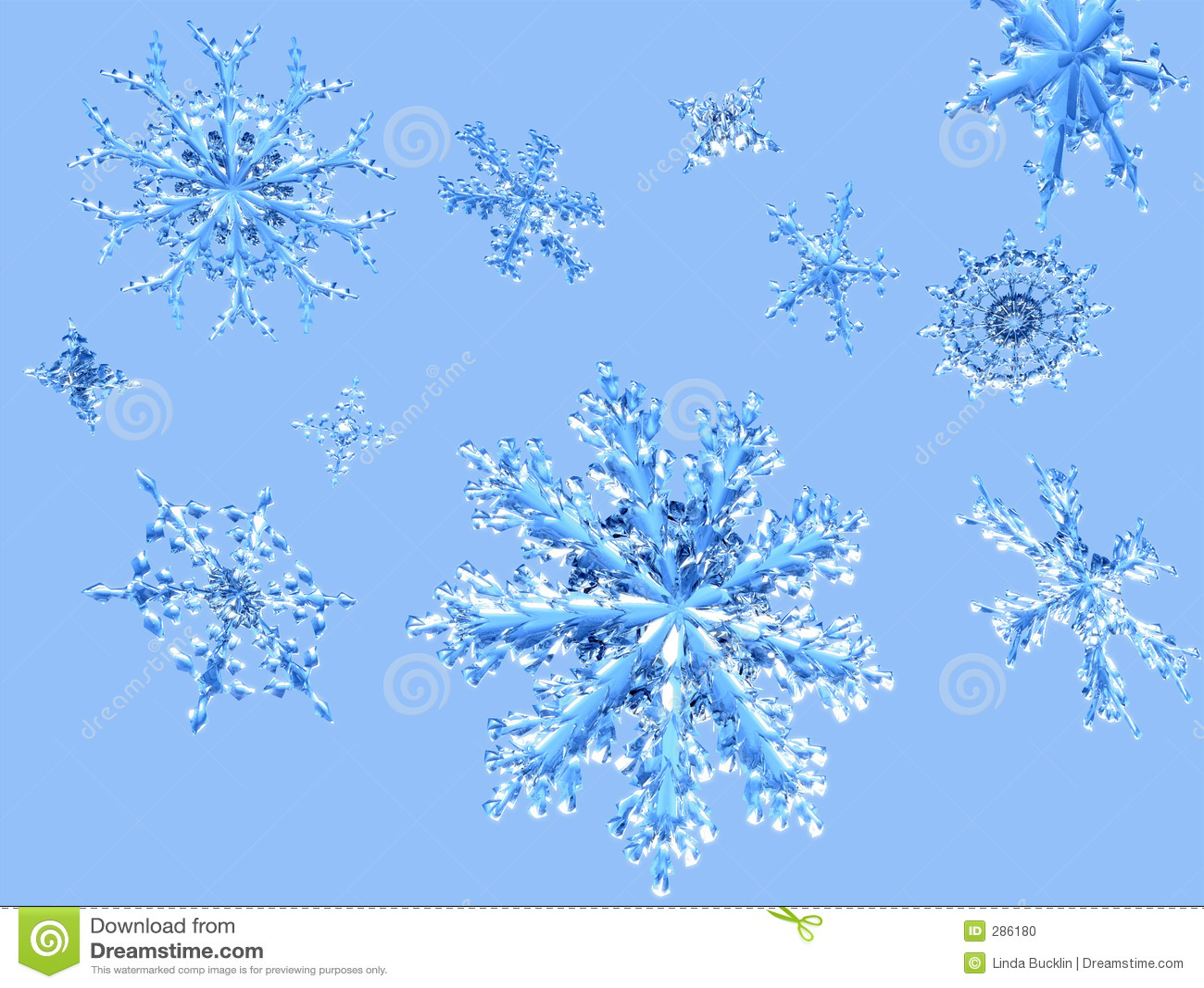 Schitterende Dalende Sneeuwvlokken