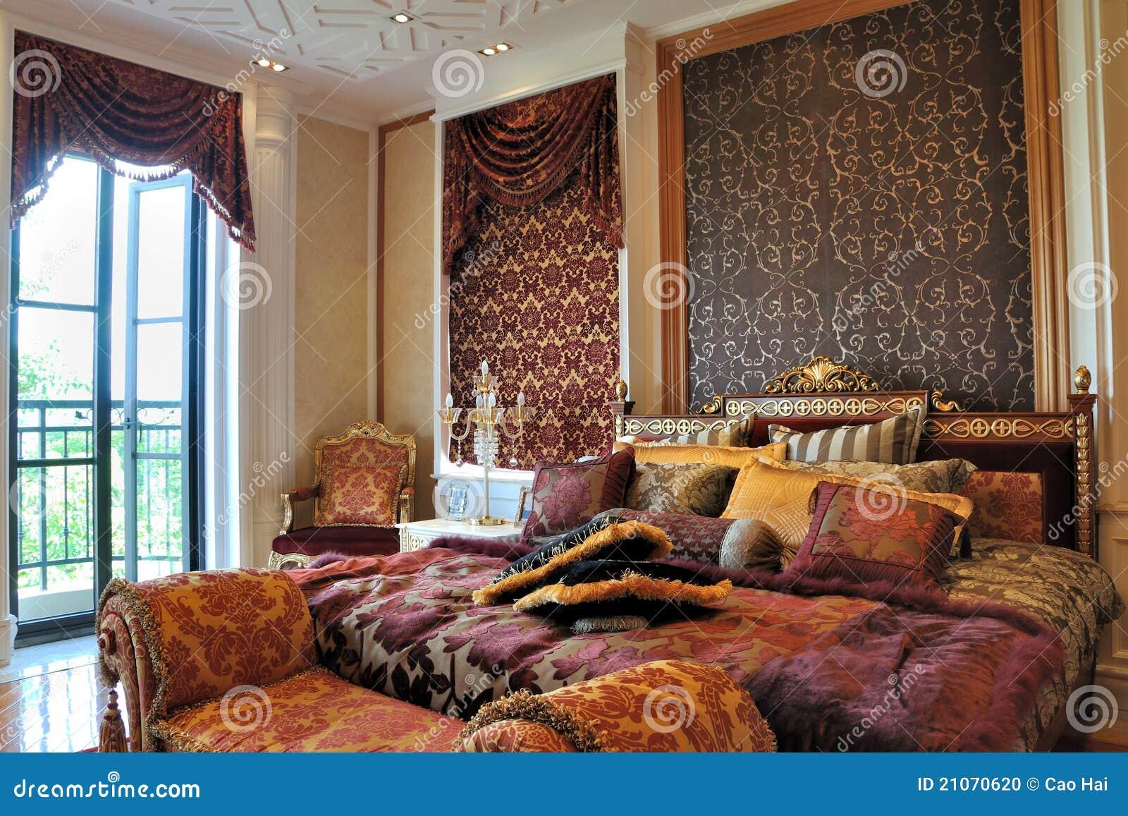 Slaapkamer Verlichting Tips : Schitterende slaapkamer met verlichting stock foto afbeelding