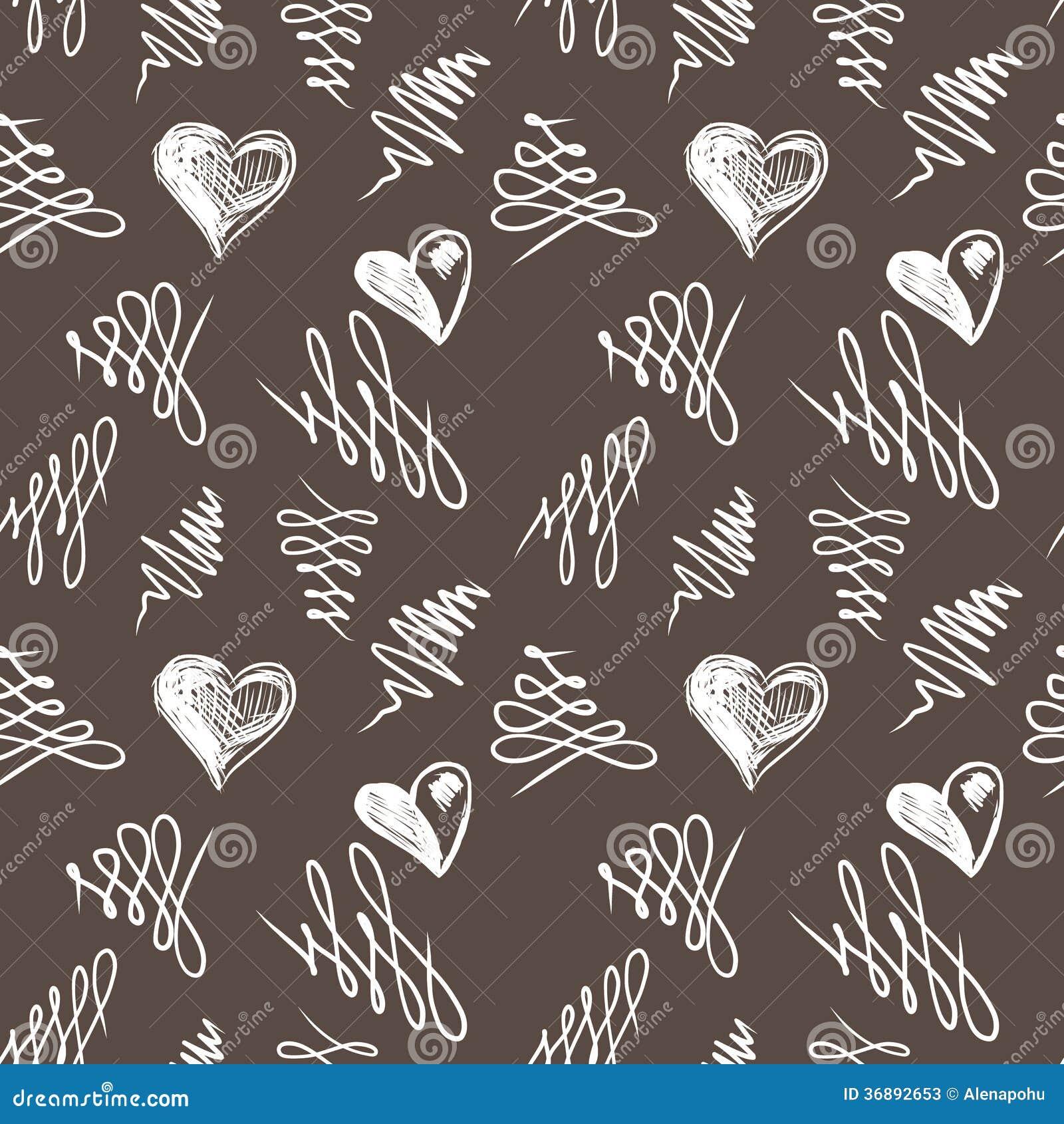 Download Schizzo Dei Cuori Di Amore Disegnato A Mano Illustrazione Vettoriale - Illustrazione di arte, invito: 36892653