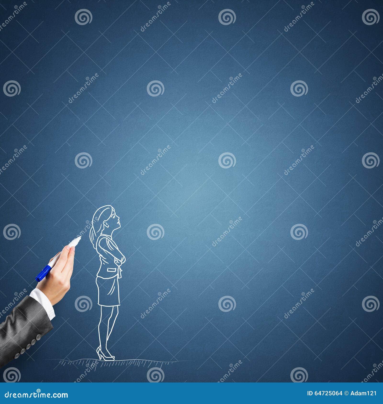 Schizzo della donna di affari