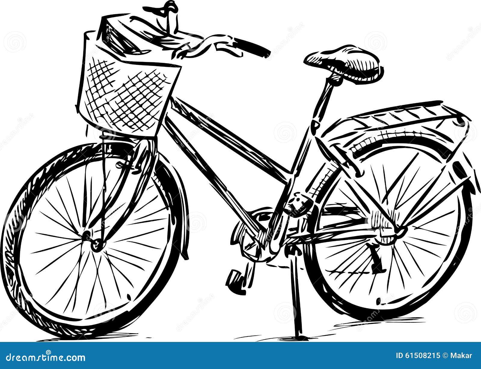 Conosciuto Schizzo di una bici illustrazione vettoriale. Immagine di bici  GH69