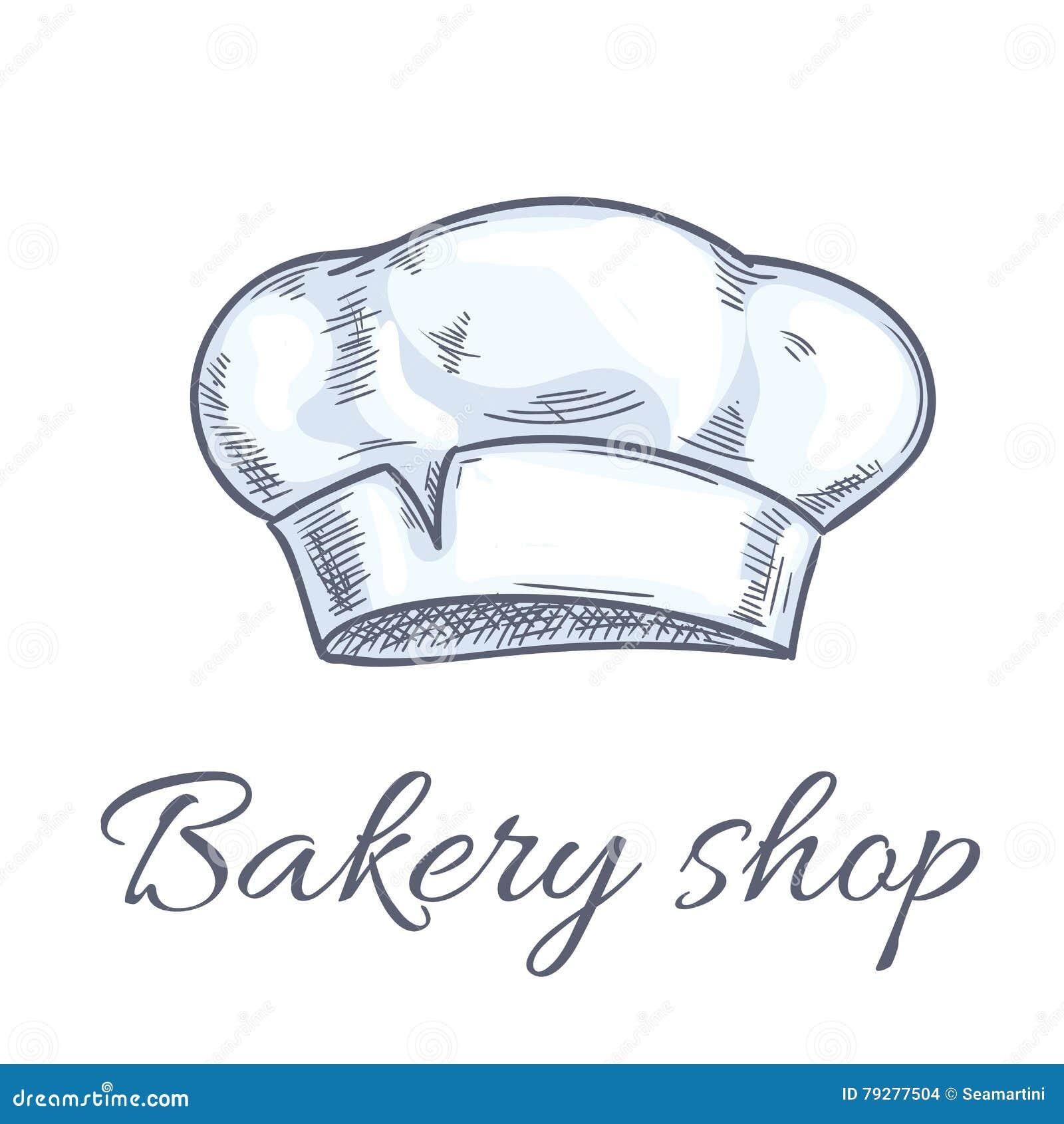 Icone del cappello del panettiere per l emblema del negozio del forno Toque  del cuoco unico 99624baf011d