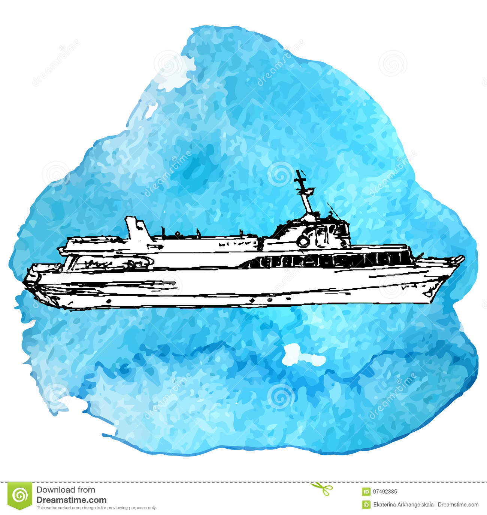 Schizzo di vettore della nave
