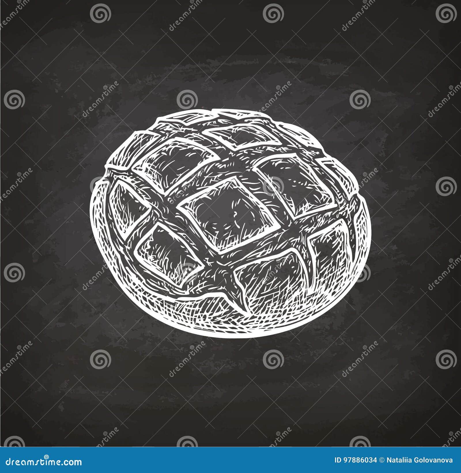 Schizzo rustico del gesso del pane