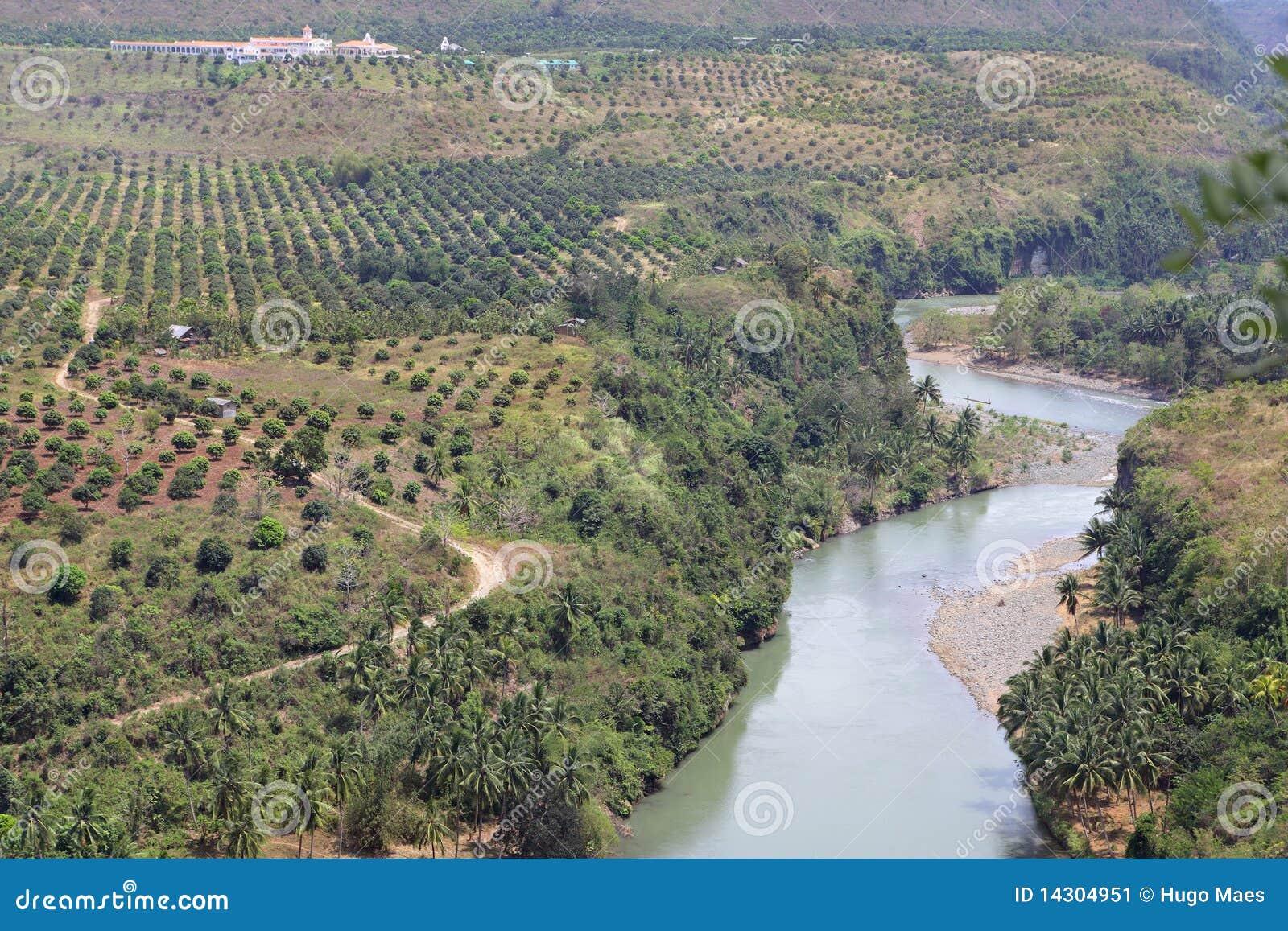 Schlängelnder Cagayan Fluss Philippinen