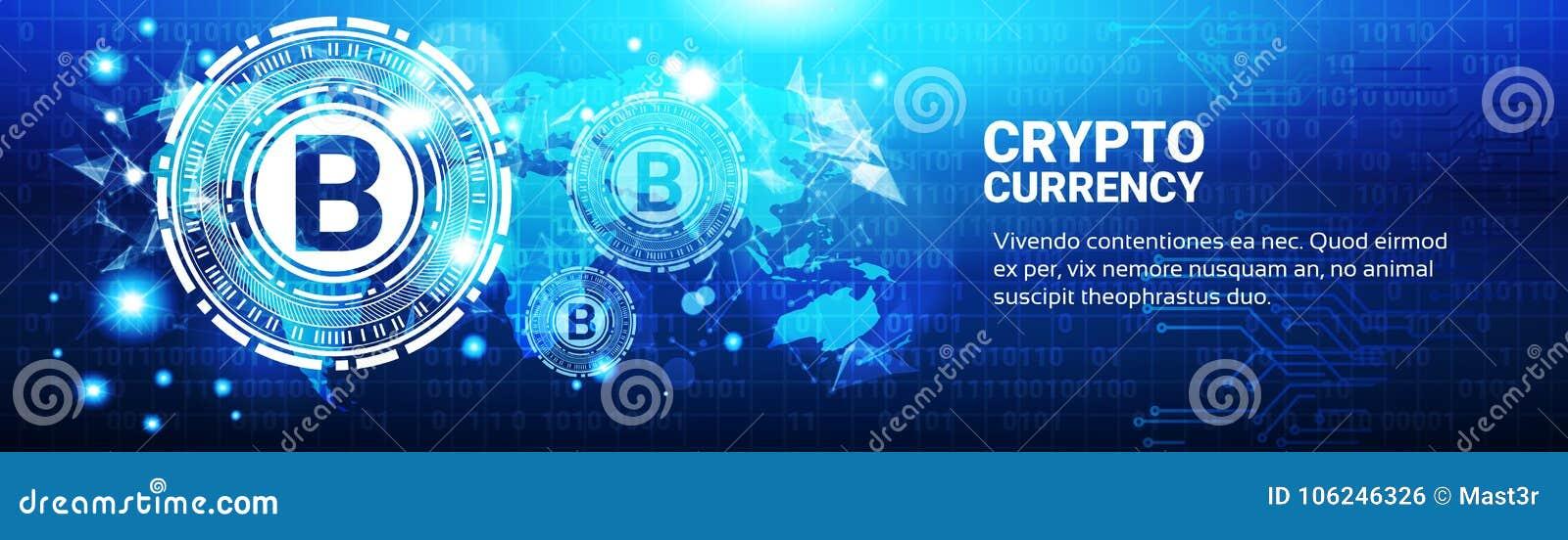 Schlüsselwährungs-Konzept Bitcoin-Zeichen auf blauer Weltkarte