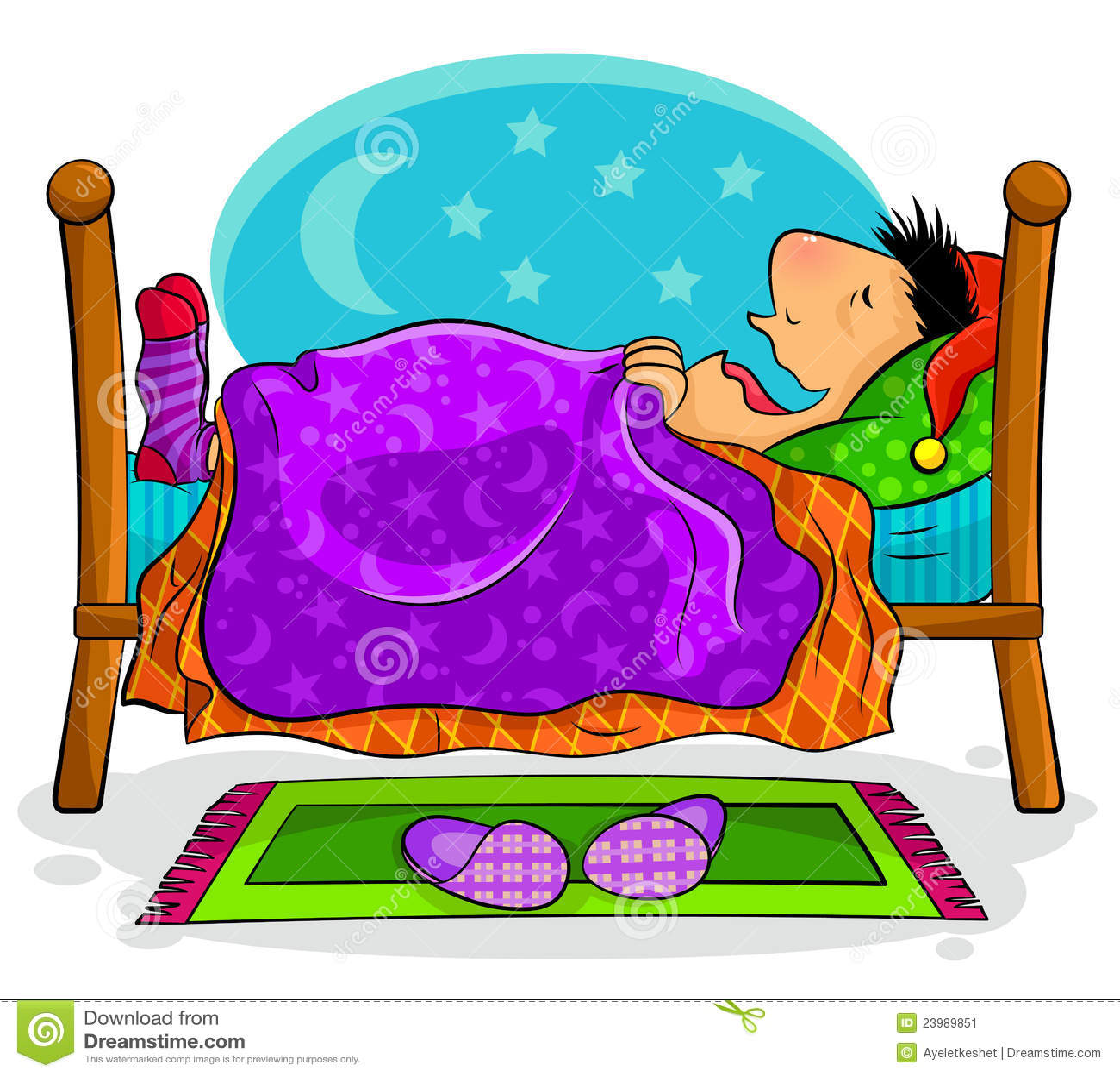 schlafender mann stockbild bild 23989851. Black Bedroom Furniture Sets. Home Design Ideas