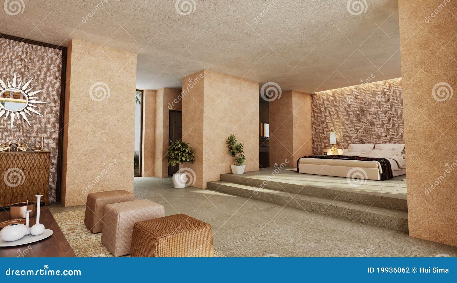 Schlafzimmer Der Arabischen Art Stock Abbildung - Illustration von ...