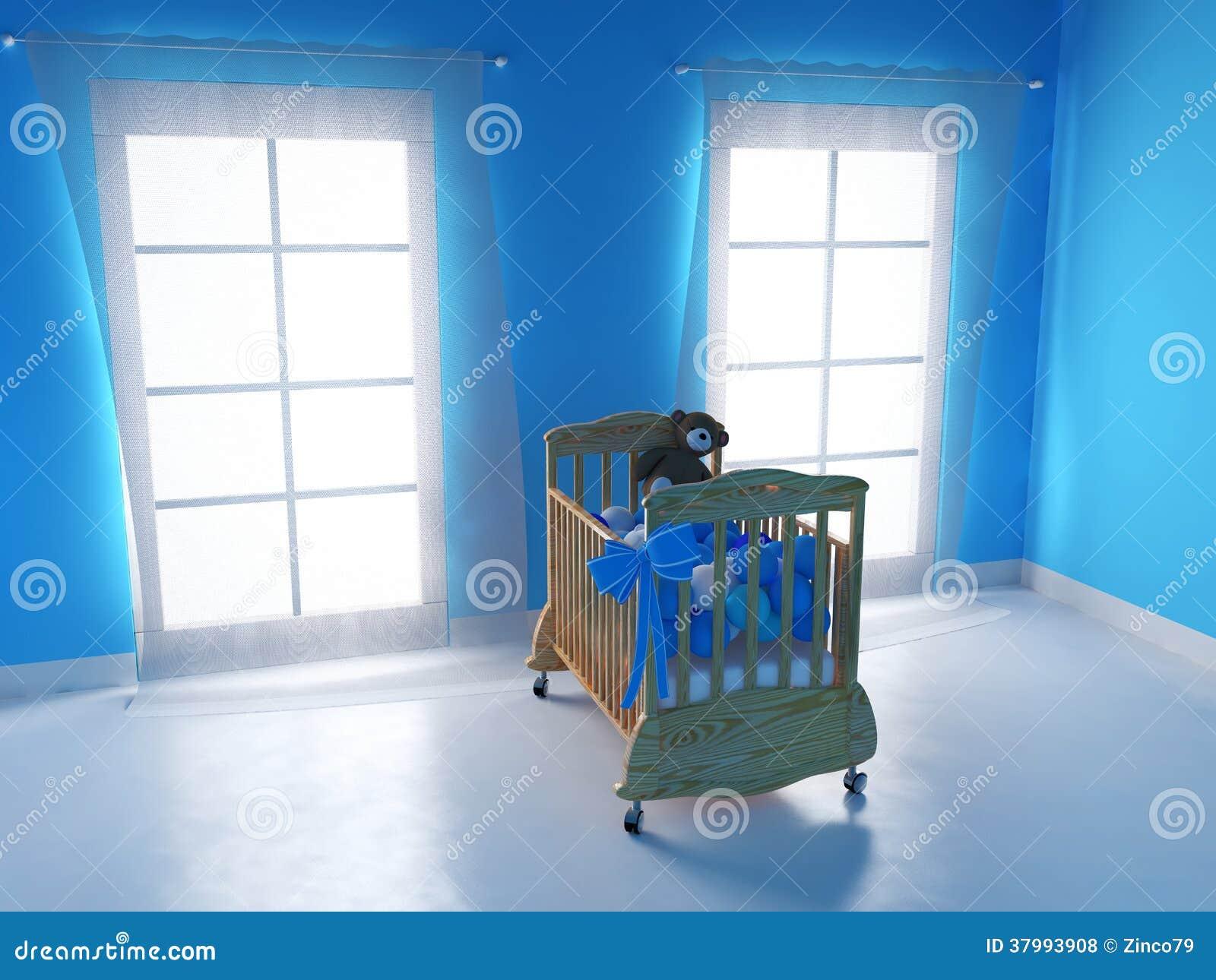 Download Schlafzimmer Für Baby Stock Abbildung. Illustration Von Kindheit    37993908