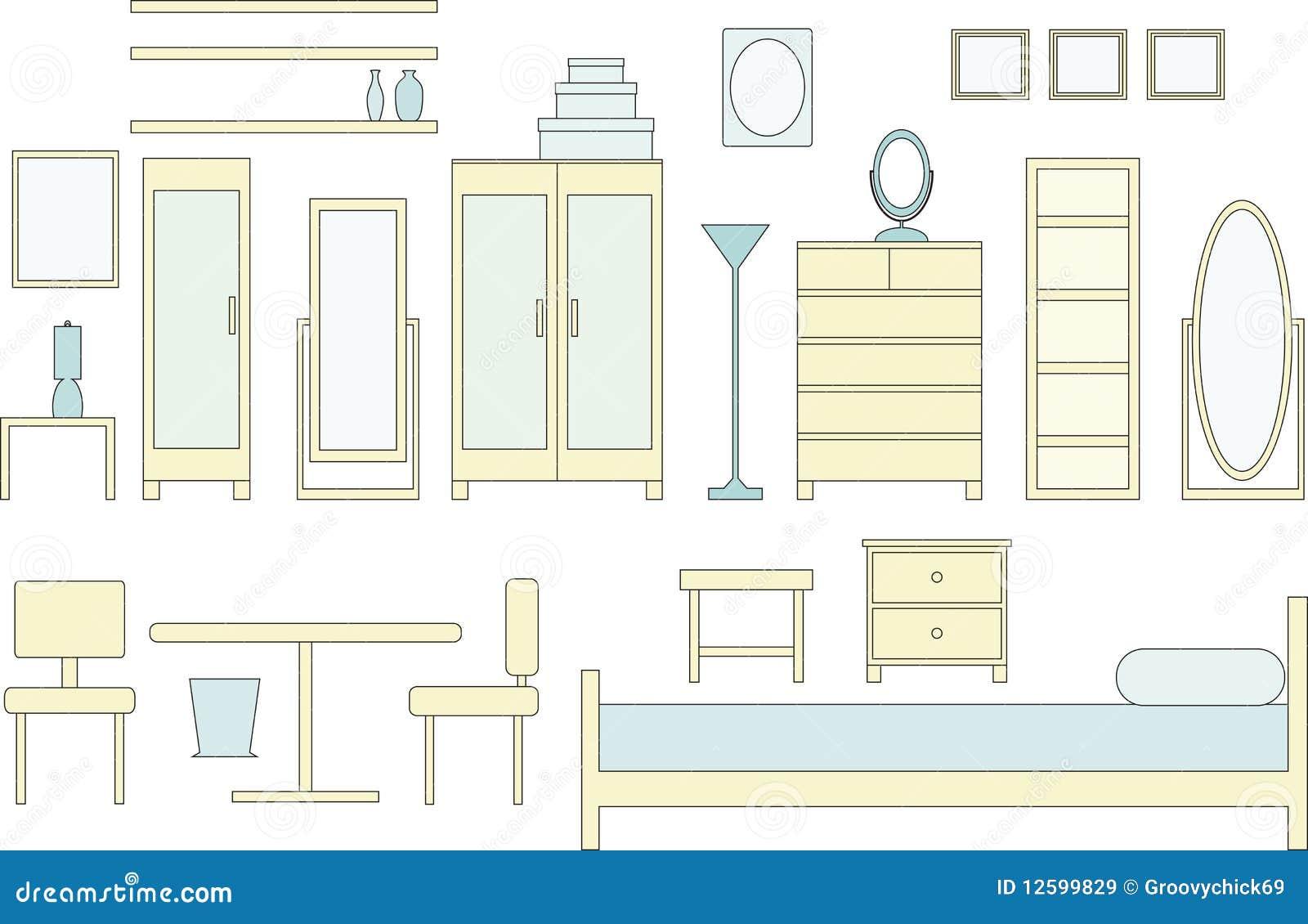 schlafzimmer-möbel lizenzfreie stockbilder - bild: 12599829, Schlafzimmer entwurf