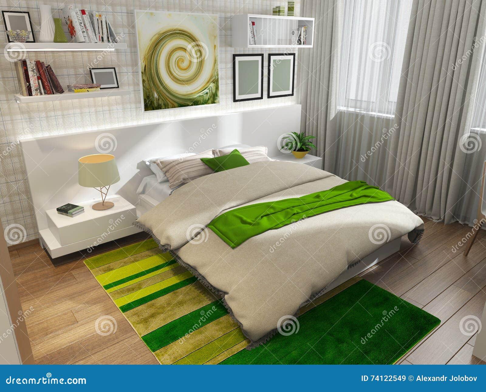 Beeindruckend Schlafzimmer Teppich Referenz Von Pattern Mit Grünem Stock Abbildung - Tration