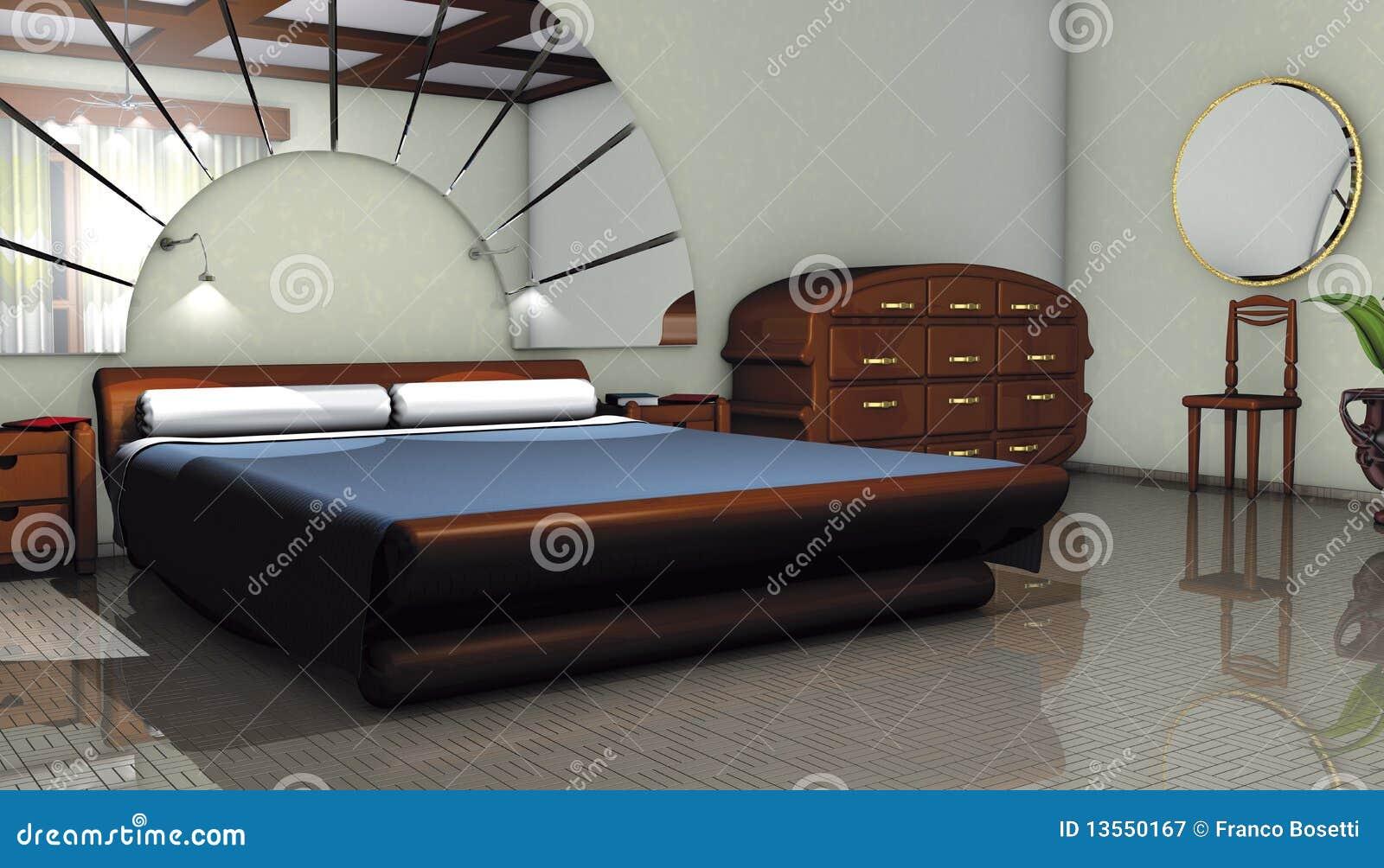Schlafzimmer modern stock abbildung. Illustration von auslegung ...
