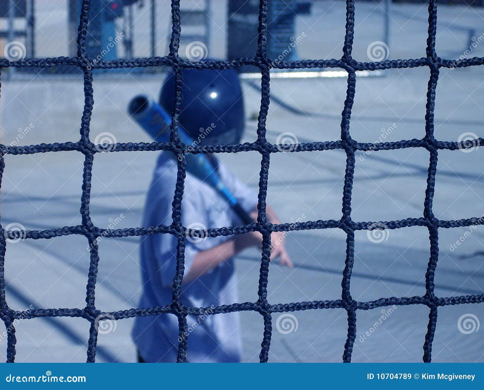Schlagen-Rahmen stockbild. Bild von baseball, netz, spiel - 10704789