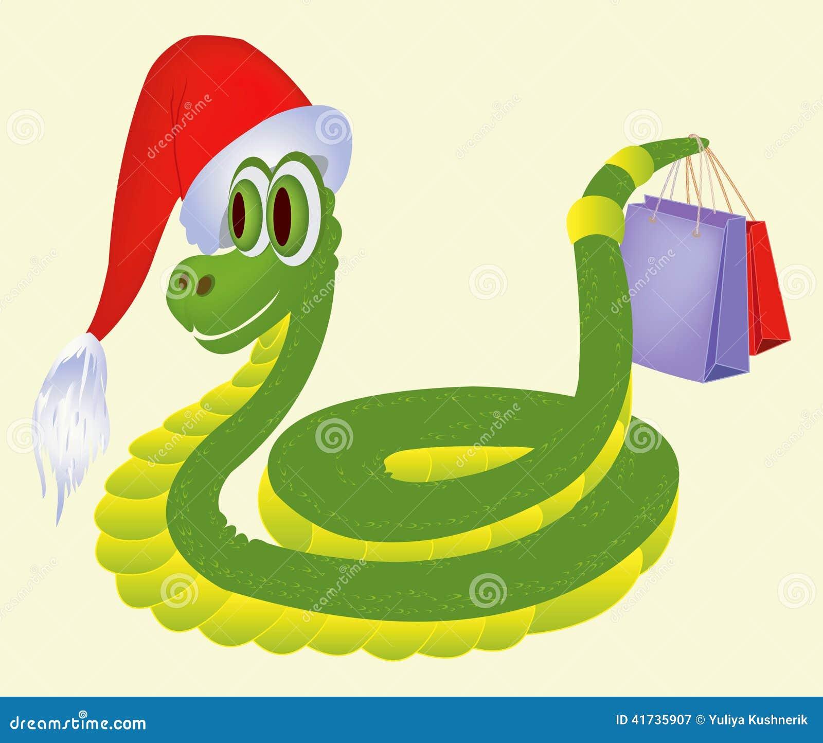 Schlange mit Geschenken