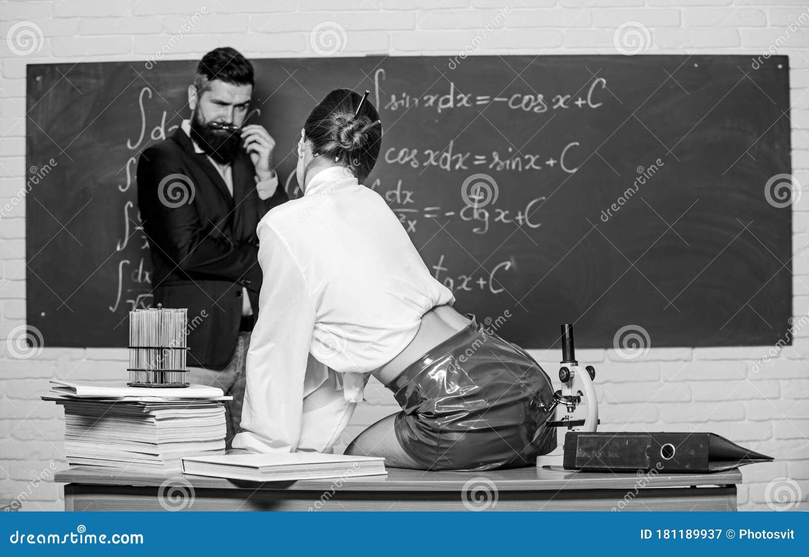 Verführt Schule Lehrer Mädchen Gymnasiast Mädchen