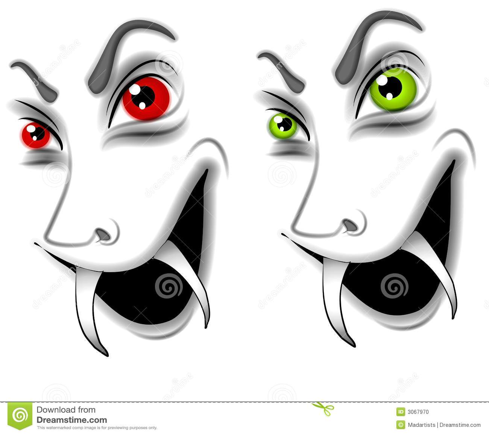 schlechte halloween vampir gesichter stock abbildung illustration von zeichen karikaturen. Black Bedroom Furniture Sets. Home Design Ideas