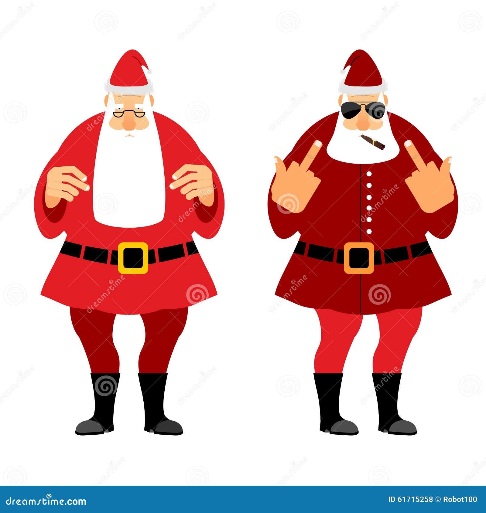 Schlechte Und Gute Santa Claus Böses Weihnachten Sankt Mit Igaretoj ...