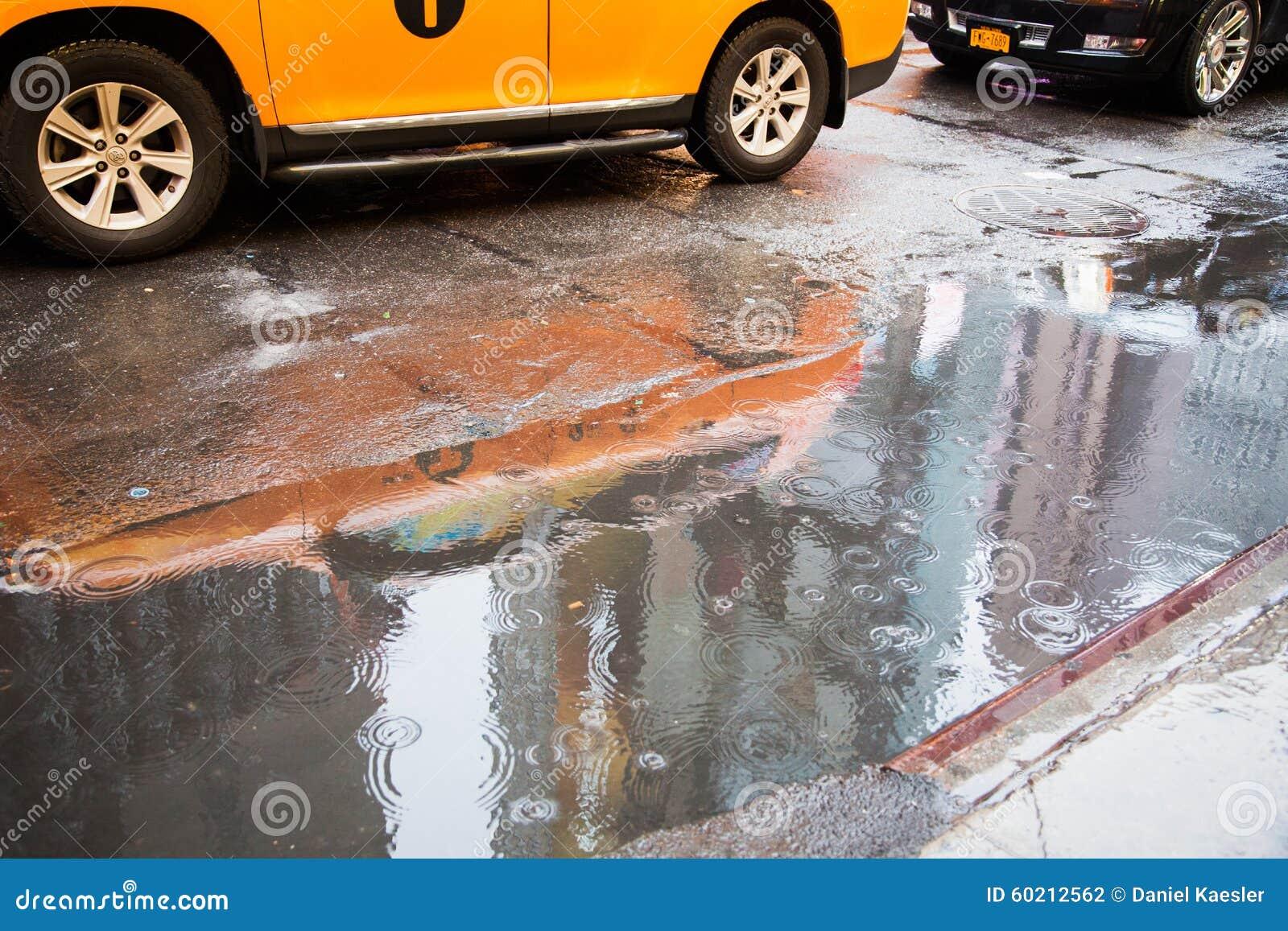Schlechtes Wetter in New York