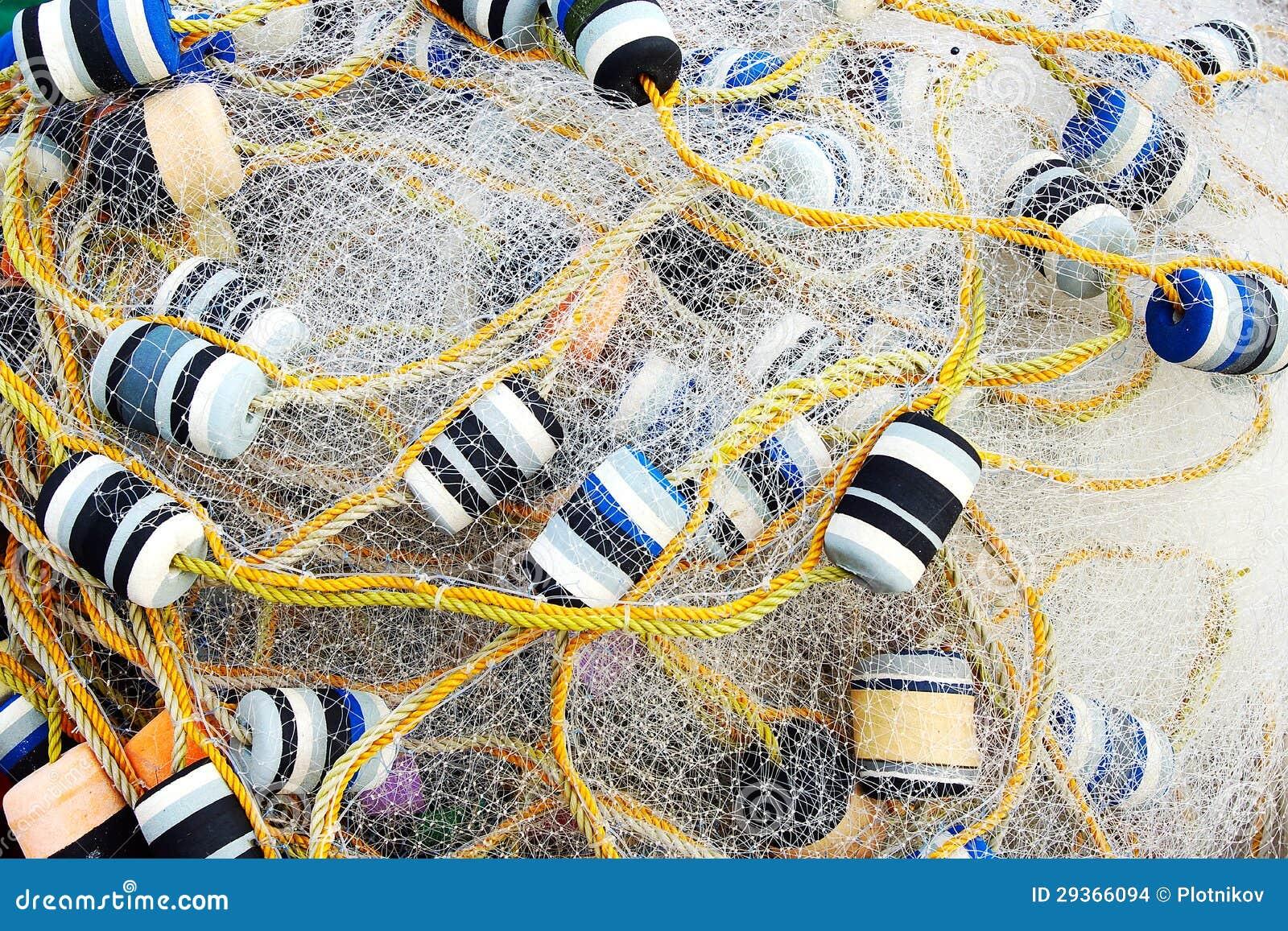 Schließen Sie herauf Ansicht des Fischernetzes.