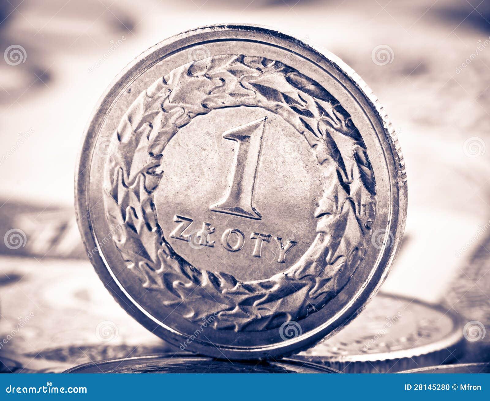 Schließen Sie herauf Ansicht von Polen-Bargeld