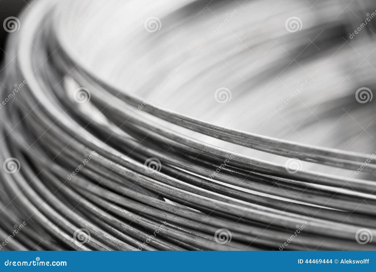 Schließen Sie Herauf Stahldraht Stockfoto - Bild von sonderkommando ...