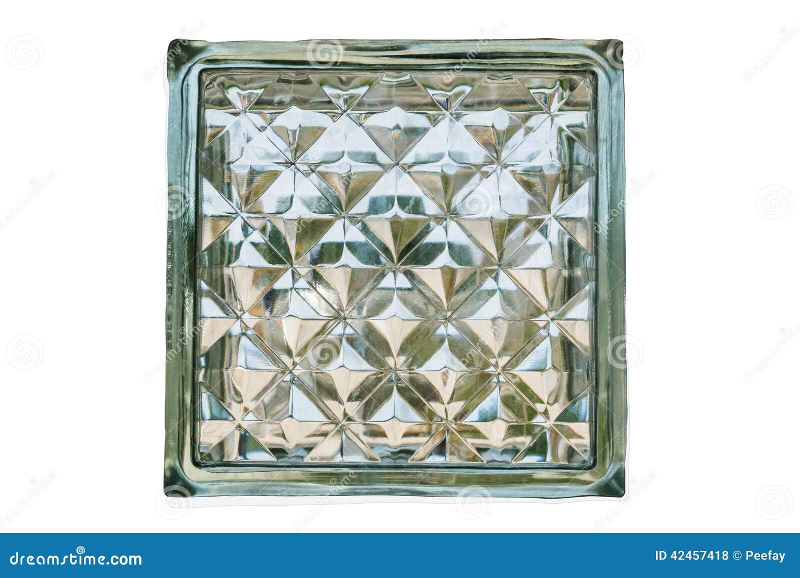 Schließen Sie oben lokalisierten vom Glasblock, mit Beschneidungspfad