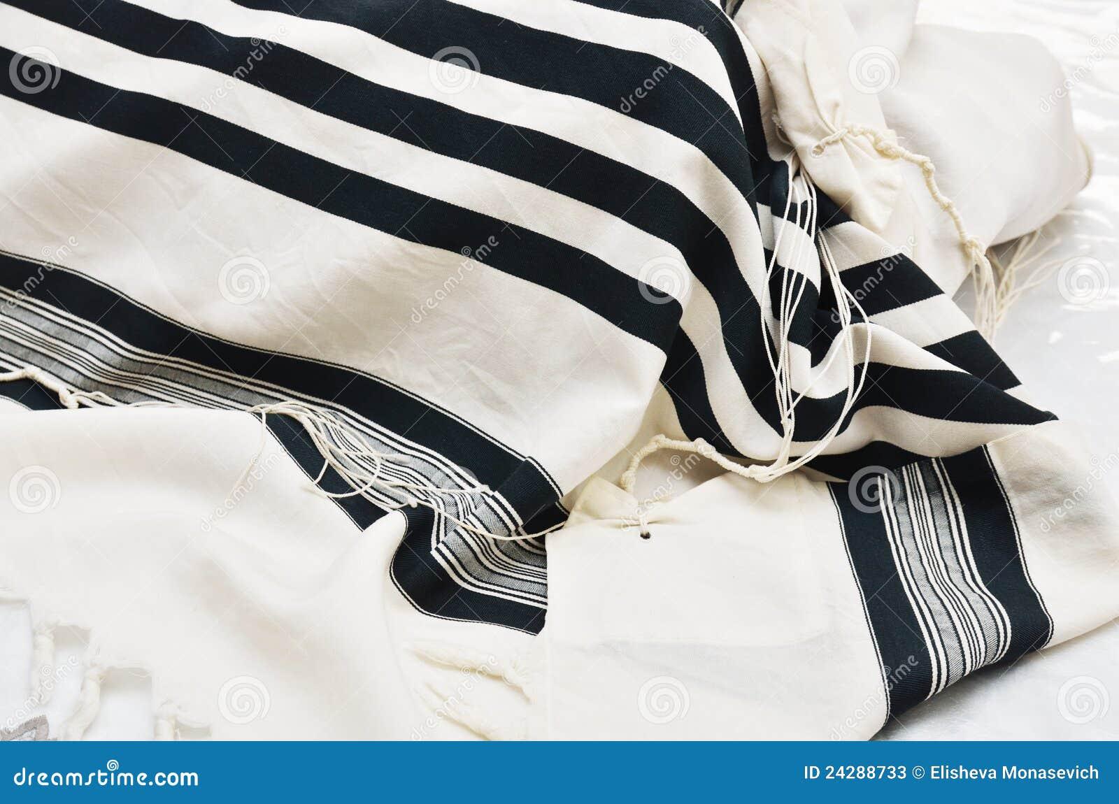 Schließen Sie oben vom Gebet-Schal - Tallit