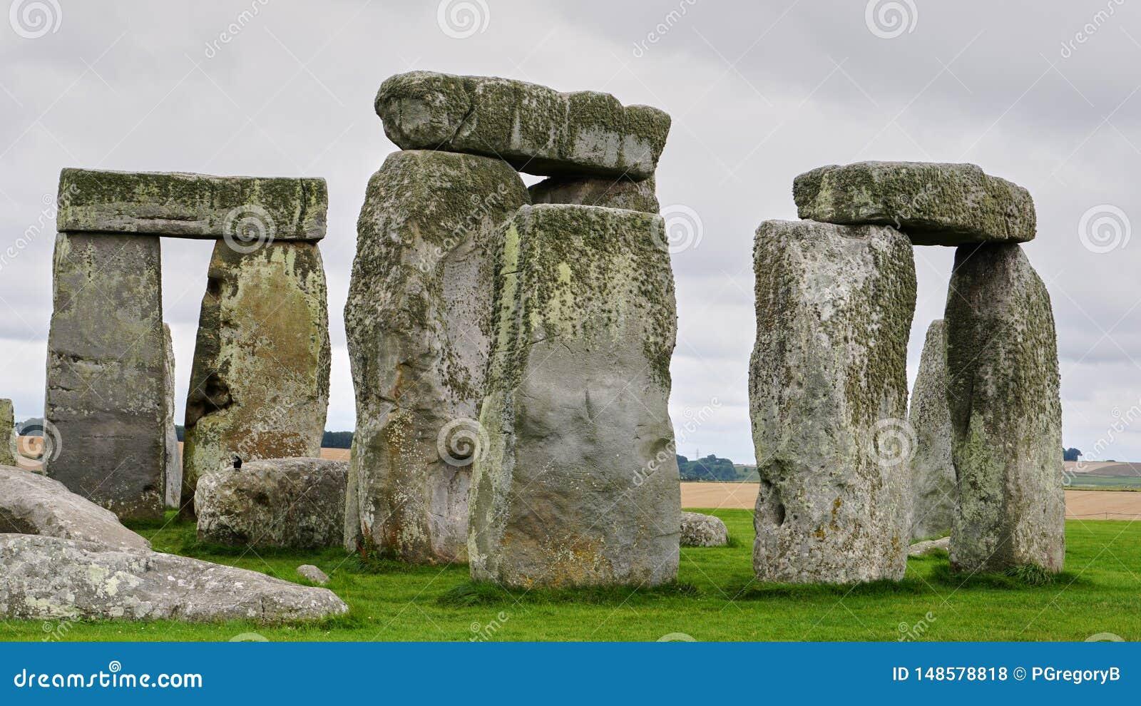 Schließen Sie oben vom Teil von Stonehenge, ohne Leute