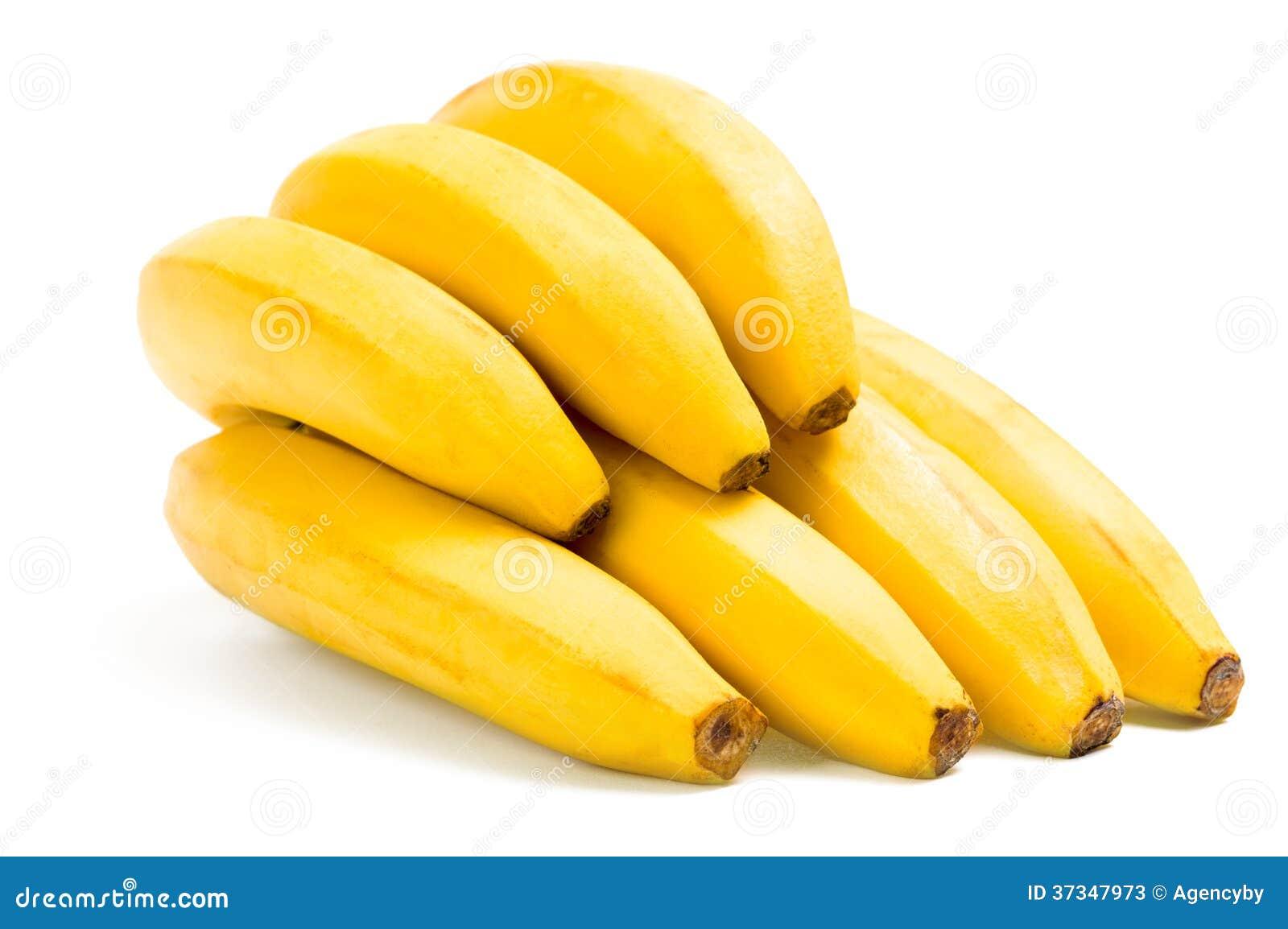 Schließen Sie oben von den Bananen