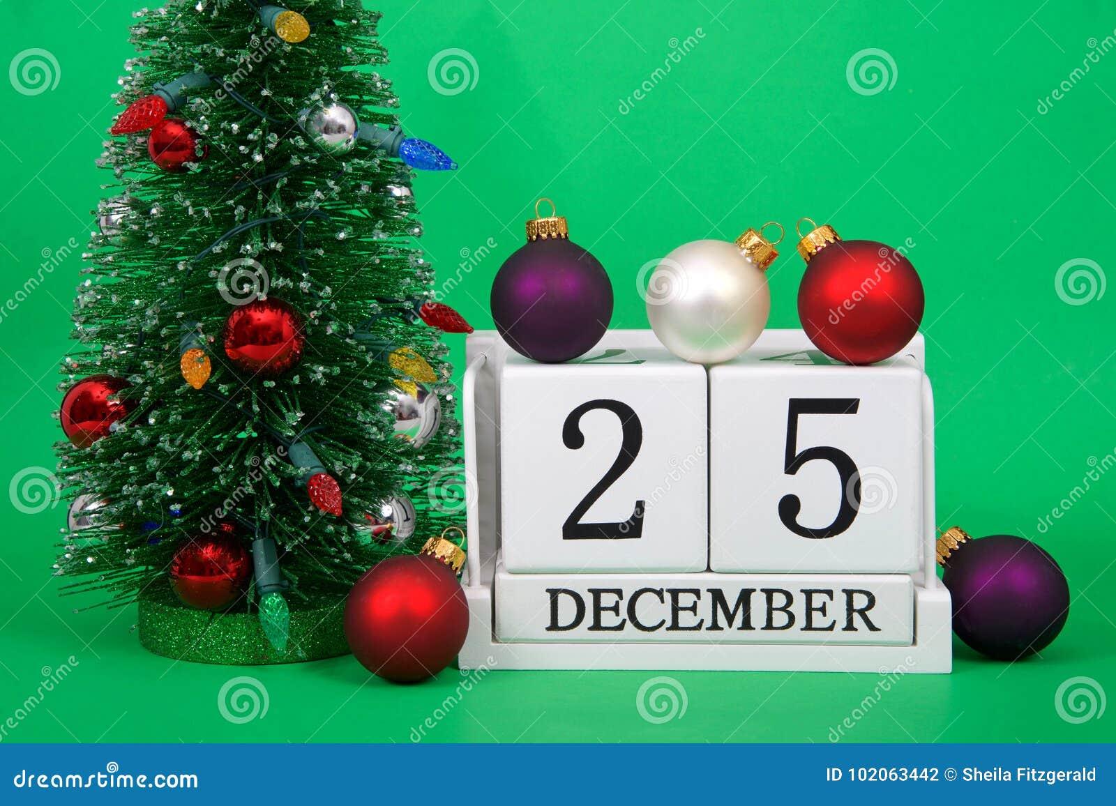 Weihnachten Datum.Schließen Sie Oben Von Den Hölzernen Blöcken Mit Datum Am 25