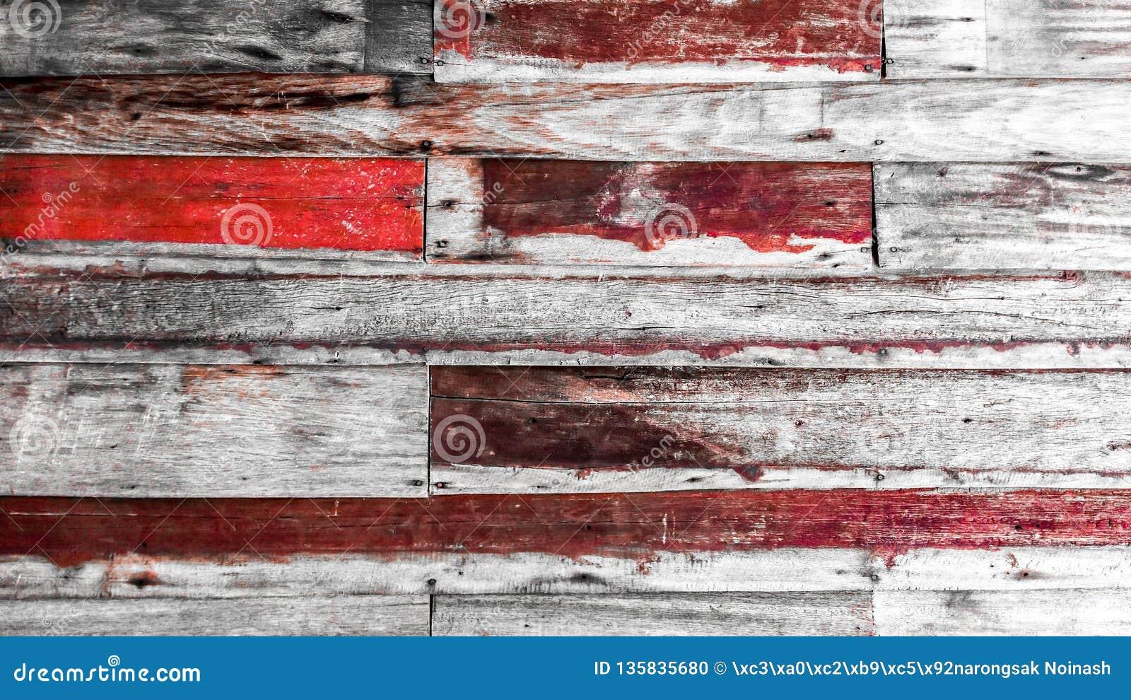 Schließen Sie oben von der Wand, die von den hölzernen Planken der Weinlese hergestellt wird
