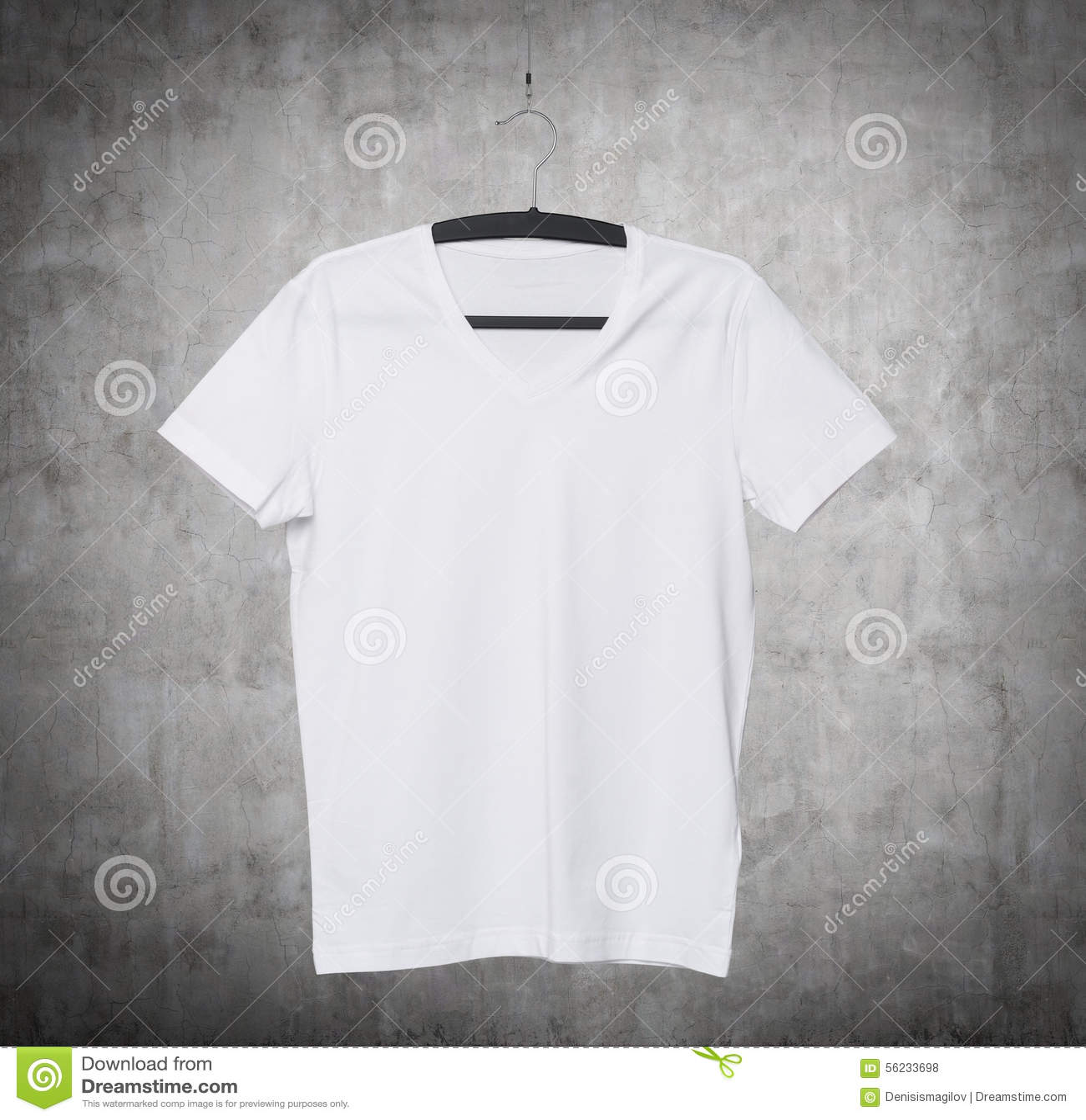 Schließen Sie Oben Von Einem V-Form Weißen T-Shirt Auf ...