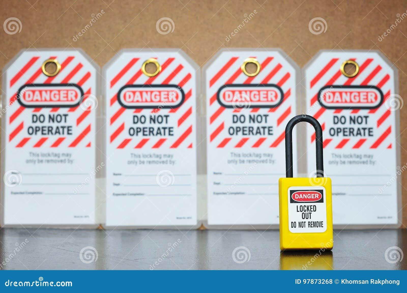 Schließen Sie out& Tag heraus, Sicherheitszeichen zu