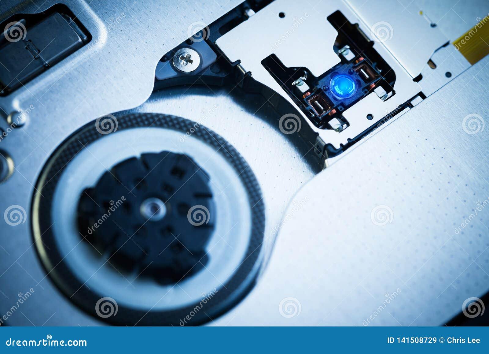 Schließen Sie herauf - Laser-Kopflinse des optischen Laufwerks