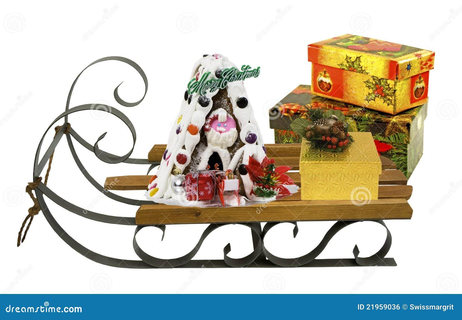 schlitten mit weihnachtsmann archivbilder abgabe des. Black Bedroom Furniture Sets. Home Design Ideas